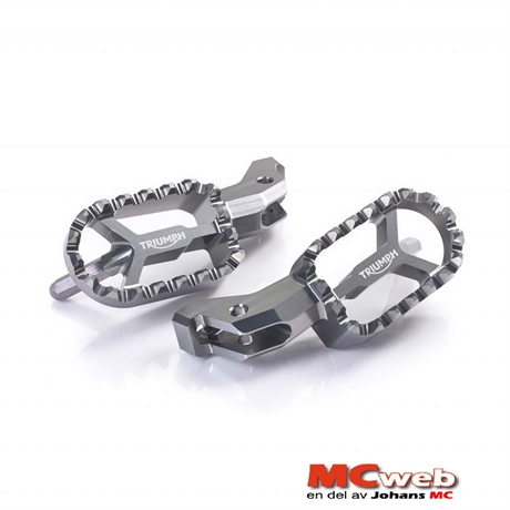 CNC Machined Footrests Grey